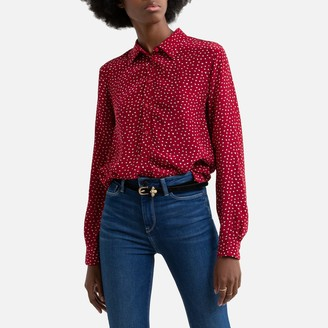 Pepe Jeans Heart Print Slim Fit Blouse