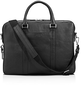 Shinola Slim Leather Computer Briefcase