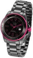 LTD Watch LTD Unisex Watch LTD-031805 Ceramic Diver Black Ceramic With Hot Pink Aluminium Anodized Plated Bezel