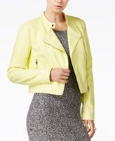 Bar III Faux-Leather Moto Jacket, Only at Macy's
