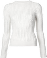 Oscar de la Renta textured-knit sweater