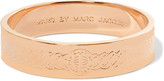 Marc by Marc Jacobs Turnlock engraved rose gold-tone bangle