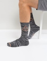 Huf Melange Socks With Triple Triangle Logo