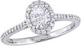 Affinity Diamond Jewelry Affinity 7/10 cttw Diamond Halo Engagement Ring, 14K