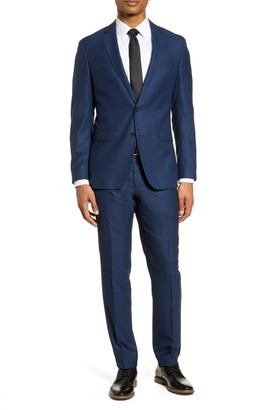 BOSS Novan/Ben Trim Fit Solid Wool Suit