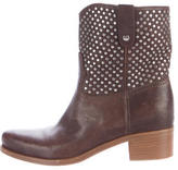Miu Miu Leather Embellished Boots