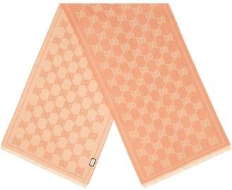 Gucci GG jacquard fringed scarf