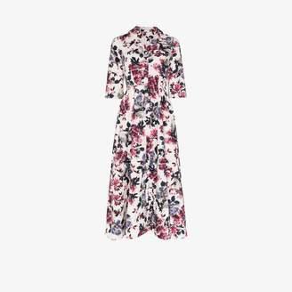Erdem Kasia floral print flared shirt dress