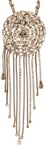 Julie De Libran - Crystal-strand Brooch And Pendant Necklace - Womens - Crystal