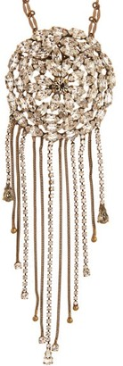 Julie De Libran - Crystal-strand Brooch And Pendant Necklace - Crystal