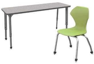 3.1 Phillip Lim Apex Classroom Desk & Chair Set Marco Group Inc. Desk Finish: Gray, Frame Finish: Black, Seat Color: Apple
