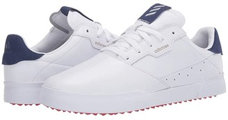 adidas Adicross Retro (Footwear White/Legacy Blue/Glory Red) Men's Golf Shoes