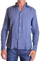 Altea Men's Blue Linen Shirt.
