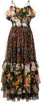 Dolce & Gabbana floral print layered dress