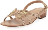 Eric Javits Papillion Butterfly Flat Sandal, Taupe