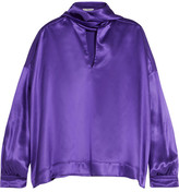 Balenciaga Pussy-bow Silk-satin Blouse - Purple