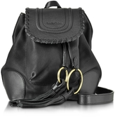 See by Chloe Polly Black Leather Backpack w/Tassels