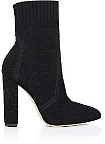 Gianvito Rossi Women's Isa Sock Bouclé Boots-Black