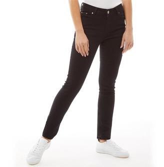 Fluid Womens Skinny Denim Jeans Black