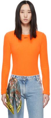 Off-White Off White Orange Terrycloth Bodysuit