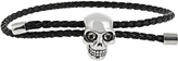 Alexander McQueen Skull and braided-leather bracelet