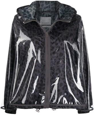 Pinko Water-Resistant Leopard Jacket