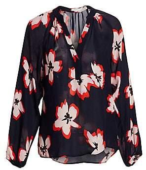 A.L.C. Women's Jules Floral Silk Blouse - Size 0