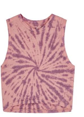 FREE PEOPLE MOVEMENT Love Tank tie-dye cotton-blend top