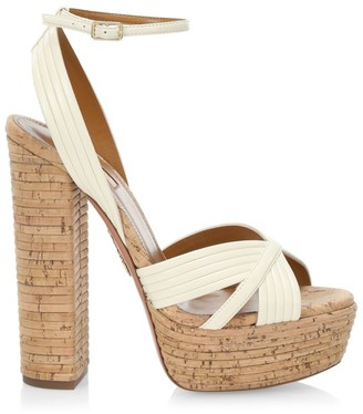 Aquazzura Sundance Platform Cork Sandals