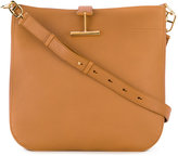 Tom Ford T Clasp Hobo bag - women - Cotton/Calf Leather/Polyester/Brass - One Size