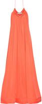 Stella McCartney Amiel embellished pleated silk-satin gown