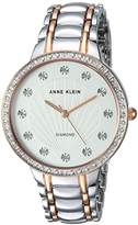 Anne Klein Women's Quartz Metal and Alloy Dress Watch, Color:Two Tone (Model: AK/2781SVRT)