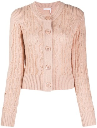 See by Chloe Fine Cable-Knit Cardigan
