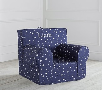 Pottery Barn Kids Navy Scattered Stars Glow-in-the-Dark Anywhere Chair