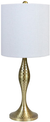 """Grandview Gallery 20"""" Antique Soft Brass Hammered Finish Accent Lamp"""