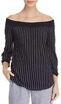 Nic+Zoe Starry Nights Stripe Off-the-Shoulder Top