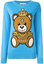 Moschino bear intarsia jumper - women - Cotton - XXS