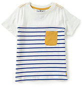 Joules Little Boys 3-6 Striped Short-Sleeve Patch-Pocket Top