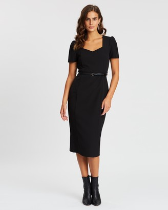 Dorothy Perkins Sweetheart Belted Pencil Dress