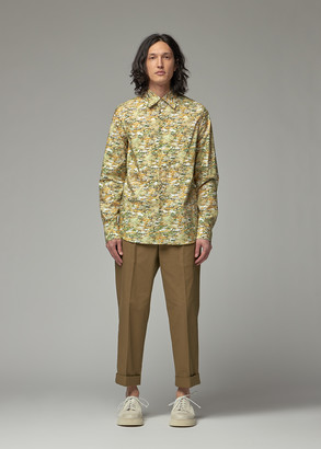 Marni Men's Printed Shirt in Dark Lemon Size 46 100% Cotton
