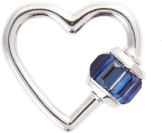 Marla Aaron 'Heart' blue sapphire 14k white gold baby lock