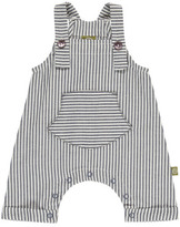 Nui Shane Chambray Striped Organic Cotton Dungarees