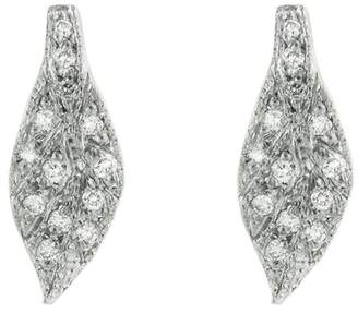 Cathy Waterman Diamond Leaf Stud Earrings - Platinum