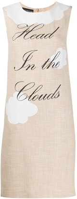 Boutique Moschino Slogan Print Dress