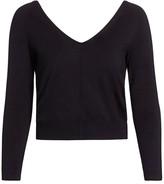 Akris Double V-Neck Silk Knit Sweater