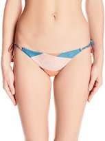 Vix Women's Full Bikini Bottom with Long Tie
