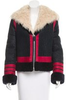 Cédric Charlier Fur-Trimmed Shearling Coat w/ Tags