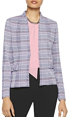 Misook Plaid Knit Blazer