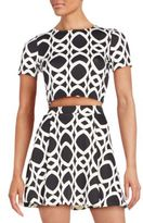 Saks Fifth Avenue RED Geometric Chain-Print Cropped Top
