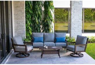 Eddie Bauer Echo Bay 5 Piece Deep Seating Group with Cushions
